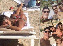 Belen e Marco Borriello, stessa spiaggia e stesso ombrellone